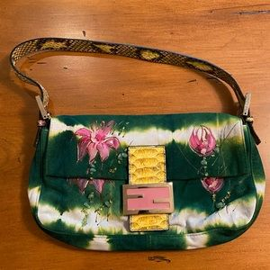Fendi Hand Painted Baguette Bag